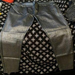 Bongo plus black shiny stretch denim pants
